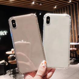 Funda móvil caliente online-Venta caliente a prueba de golpes cáscara del teléfono móvil de la caja transparente para iPhone X Xs Max 6 6s 7 8 Plus Protección transparente Contraportada B0011