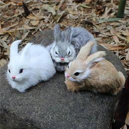 15 cm mini realistica carino bianco peluche coniglio pelliccia realistica animale coniglietto di pasqua simulazione coniglio giocattolo modello regalo di compleanno da