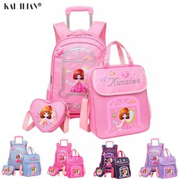 3PCS Trolley bag luggage set kids school bags for girls cute travel bag suitcase on wheels children's carry on luggage nereden