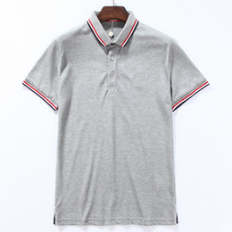 Polo in piqué di cotone online-Popolare stile calssico Pique Split Colors Slim usura Polo T-shirt Fit Cotton Tops 2020 Estate vendita calda Trim 3 orlo SUIWL