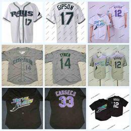 Tampa trikots online-Tampa Bay Devil Rays 1998 Eröffnungssaison Baseball-Trikots 12 Wade Boggs 33 Jose Canseco 4 Blake Snell 2 Randy Winn 22 Hamilton