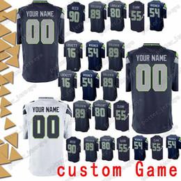 de91984bb Seattle 82 Luke Willson Seahawk Jerseys custom Game 72 Michael Bennett 4  Steven Hauschka 40 Derrick Coleman 10 Paul Richardson Jersey jerseys seattle  ...