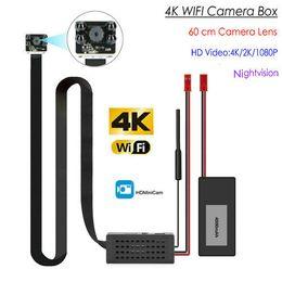 Modulo ir camera online-4K Wireless Mini Security WiFi Camera Module con obiettivo da 60 cm, 4pcs IR Night Vision LED, HD 4K / 2K / 1080P, supporto Max 128G