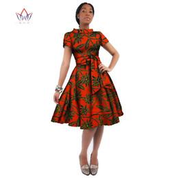 sexy vestidos de talla mediana más largos Rebajas Vestido de África por mayor para las mujeres de cera africana Imprimir vestidos de Dashiki más el tamaño de la ropa del estilo de África Oficina Para las mujeres se visten Wy082 J190511