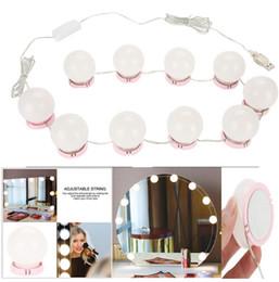 Ampoule de charge en Ligne-Maquillage Mirror Vanity LED Kit d'ampoules Port de charge USB Cosmétique Éclairé Maquillage Miroirs Ampoule Réglable Luminosité lumières