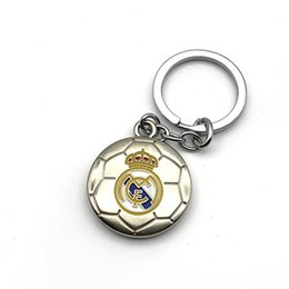 real madrid football team Coupons - Real Madrid Football Club Soccer Team Logo 3D Metal Pendant Keychain Keyring Team Crest