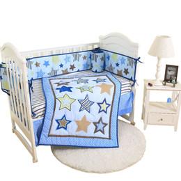 2019 ropa de cama de parachoques del bebé contton bordado bebé juegos de cama edredón hoja falda parachoques ropa de cama de parachoques del bebé baratos