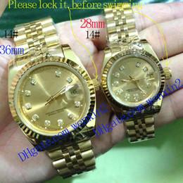 Relojes de banda digital online-14 Colores Reloj de Lujo para Mujer 28mm 36mm Reloj Mecánico Automático Fecha Relojes de Pareja Relojes de Diferentes Estilos Con Una Banda de Jubileo