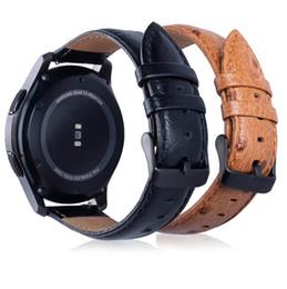 Cinturino in pelle 22mm 20mm Pebble Time per Samsung Gear sport S2 S3 classico orologio galassia Frontier 42mm banda 46mm huami amazfit bip cheap pebbles watch da guardare i ciottoli fornitori