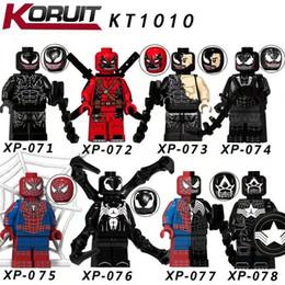 Giocattoli del partito di spiderman online-Veleno fai-da-te Action Figure Marvel Venom Spiderman building blocks Venompool Super Heroes Spiderman Toys Figure baby festa di compleanno regalo anime