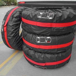 Ocamo 5Pcs//Set Storage Bag Spare Tire Cover Case Polyester Winter and Summer Car Tires