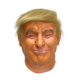 gummi witze Rabatt UPS geben Verschiffen durch USA lokalen Donald Trump 2020 Mask Realistische Männer Männliche Promi Latex Maske Kopf voller Partei Halloween Kostüme Cosplay