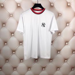 cioccolatini migliori Sconti 2019 Fashion brand New Summer T shirt uomo 100% cotone Fashion Letters ricamo T shirt girocollo mans manica corta