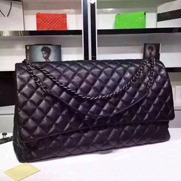 Sacos de corrente acolchoados on-line-AAAA mulheres de qualidade saco de viagem grandes sacos de ombro treliça acolchoado menino jumbo bolsas de grife bolsas de marca de moda saco de cadeia de couro