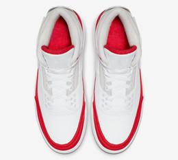 Logos halloween en Ligne-3 logo de bricolage rouge logo 3s trois chaussures de basket rouges blanches Nouveau 2019 baskets formateurs pour hommes avec boîte