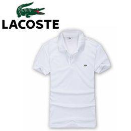 Большие рубашки поло онлайн-19SS летом большой размер мужская рубашка поло Оптовая мужская одежда хлопок большого размера с короткими рукавами футболки летняя рубашка поло отворот бесплатная доставка