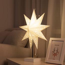 Deutschland Einfache Moderne Schlafzimmer Nachttischlampe Kreative Romantische Origami Windrad Stern Dekoration Tisch nachtlampe für Geburtstagsgeschenk - R20 Versorgung