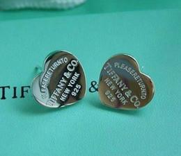 Brincos estilo europeu on-line-Compatível com brincos de pandora Tiffanys925 brincos de prata esterlina corações para mulheres estilo europeu jóias charme moda original