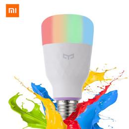 lampada di limone Sconti Telecomando economico Inglese versione globale Xiaomi Yeelight Smart LED Lampadina colorata 800 Lumens 10W E27 Lemon Smart Lamp Mi Home