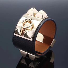 Oito braceletes on-line-Punk designer de jóias mens pulseiras moda em aço Inoxidável oito pulseira de unhas senhora baitao pulseira de couro Sem alergia