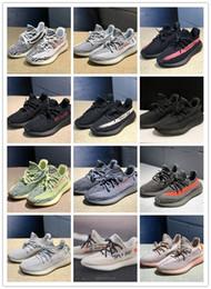 [Con caja] Static Reflective 350 Clay True Zebra Glow 3M Kanye West Hombre Mujer Basf Zapatos Bred Designer Sneakersyeezyyeezys350 desde fabricantes