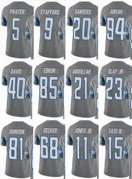 b54a52e8cb0 LIONS Detroit  9 Matthew Stafford  20 Barry Sanders  15 Golden Tate  23  Darius Slay  40 Men Women Youth Color Rush Elite Football Jerseys