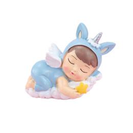 Europee e americane del cuore della ragazza del fumetto di sonno unicorno principessa principe cottura torta regalo decorazione ornamenti di compleanno dei bambini da