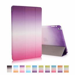 Canada 2019 DERNIER !! Coloré arc-en-ciel cas de couverture pour ipad mini air Tri Fold Hard PC Smart Case Housse de protection pour Apple iPad supplier smart cover for iphone Offre