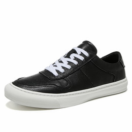 Мужская летняя обувь онлайн-Men Sneakers Casual Shoes  Male Genuine Leather Flats Plus Big Size Breathable Lace Up Spring Summer Shoes