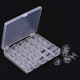 UK Sewing Machine Bobbins Spool Plastic Case Box For Brother Janome Singer