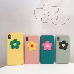 2019 fleur givrée Pour Iphone Xs Max X Xr Cas de téléphone portable brodé 3D Fleurs Pour Apple 7 8 6 Plus TPU Givré Soft Phone Case fleur givrée pas cher
