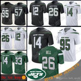 2019 jersey estilo cor amarelo 26 LeVeon de Bell Jets 14 Sam Darnold Nova Iorque Jersey 33 camisas de futebol 95 Quinnen Williams Jamal Adams 57 C.j. Mosley