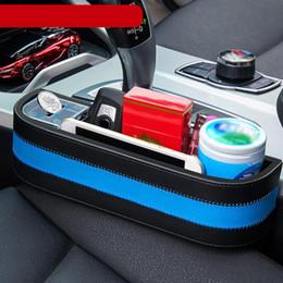 juguetes de tela coche Rebajas Ahorro de espacio del asiento de cuero PU Instalación simple caja de almacenamiento interior duradero Organizador multifunción de coches Accesorios de contenedores