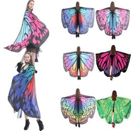 duende mágico Desconto Asas da fada da borboleta Coleção moda Lolita lenço da ninfa Pixie 1Pcs Xaile Scarf traje acessórios