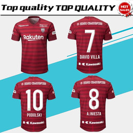 96da1bfdf J1 League Vissel Kobe Soccer Jerseys 2019 Vissel Kobe Home red Soccer Shirt  2019 #8 A.INIESTA #10 PODOLSKI #7 DAVID VILLA Football Uniform discount ...