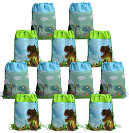 kids wholesale goodies Coupons - Dinosaur Party Favor Bags Pouch Cute Dino Drawstring Backpacks Kids Boys Girls Children's Day Birthday Party Treat Gift Candy Goody Bag