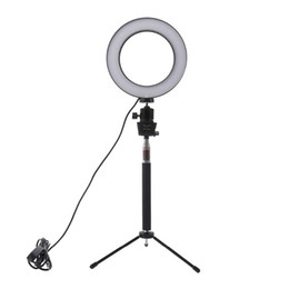 lampada principale della foto Sconti LED dimmerabili Studio Camera Light Ring Foto Telefono Video Light Lamp Con Treppiedi selfie Stick anello di riempimento luce della macchina fotografica per Canon Nikon