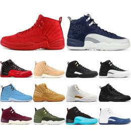 2019 chaussures pour hommes nyc Nouveau Style 12 12s Chaussures De Basketball Pour Homme CNY Michigan Wntr Gym Rouge NYC Laine Taureaux XII Designer Chaussures Sport Hommes Baskets Baskets promotion chaussures pour hommes nyc