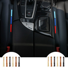 tiras de acabamento em cromo interior Desconto 2pcs Universal UseFaux Couro Car Auto Assento Gap Filler Pad Spacer armazenamento Slot de ficha adequada para BMW E90 F30 Audi Mercedes Todos os veículos
