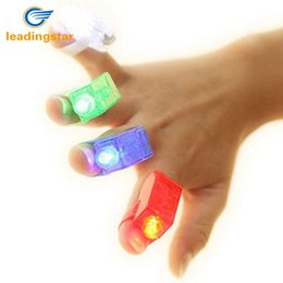collegare l'altoparlante Sconti 4 LED a colori dito luci della festa regalo all'ingrosso Grande Children Dress Up Strumenti colorati Rave bagliore giocattoli