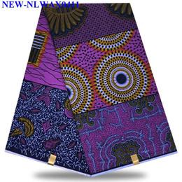 2020 tessuti di stampa della cera all'ingrosso Prezzo all'ingrosso! stampe africane cera tessuto cera hollandais stampe tessuto africano olandese hollandais 6 yards / pcs XYH1227 tessuti di stampa della cera all'ingrosso economici
