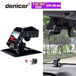 2019 spiegel rückfahrkamera vorne Auto-DVR-Nachtsicht-Lufterfrischer-Videorecorder-Full-HD-1296P-Novatek-DVRs Front-Rückansicht-Doppellinse-Dash-Cam mit zwei Kameras günstig spiegel rückfahrkamera vorne