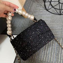 Pano de palhaço on-line-Novo produto de venda clássico de luxo cadeia Pérola saco de pano bolsa de grife bolsa de ombro único crossbody bolsa Mini moda coringa