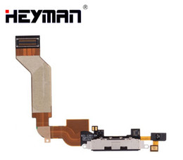 Cavo di ricarica per il iphone 4s online-Flex Cable per Apple iPhone 4S carica microfono parti di ricambio connettore