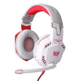 Canada Nouveau EACH G2000 Gaming Headphones, Casques à annulation de bruit stéréo, Bandeau de studio, Écouteurs microphone avec lumière pour ordinateur PC Gamer Offre