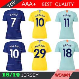 HAZARD DAVID LUIZ MORATA 2018 2019 women Soccer Jersey 18 19 RUDIGER MARCOS  A. KANTE PEDRO FABREGAS BATSHUAYI WILLIAN football shirts 261244d0c