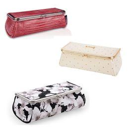 Bolsas de espejos online-Bolso del maquillaje de la fiesta de moda de las mujeres con el espejo pequeño organizador cosmético viaje maquillaje pluma lápiz labial cepillo caja de herramientas bolsa de almacenamiento caso