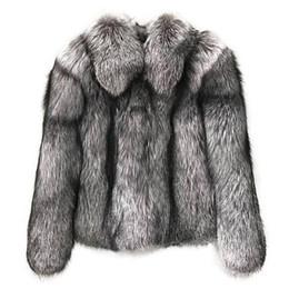 fox skinning Desconto Personalizado Fazer Top Quality 60 cm Toda a Pele Pelagem de Prata casaco de Pele De Raposa casaco outwear Stand Up Collar Para As Mulheres Senhora Dos Homens Melhor presente