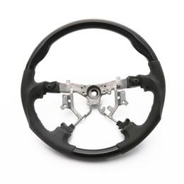 Hiace on-line-Venda Por Atacado preto de madeira + couro volante para acessórios do carro Hiace 200 styling