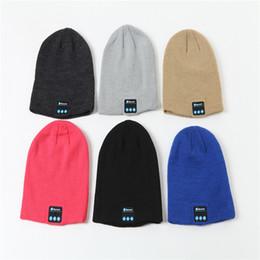 Argentina Bluetooth Headset Hat Bluetooth 4.2 Music Knitted Hat Otoño / Invierno Earmuff Warm Listening to Songs Headset Hat cheap earmuff headset Suministro